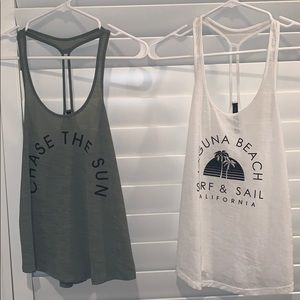 Two tank tops! One XS one Small